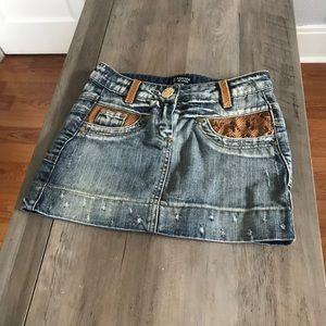 Armani Jeans Denim Jean Mini Skirt sz 26
